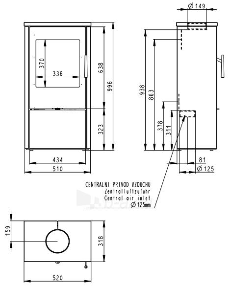Krosnelė Romotop Alpera F 02 su muilo akmens apdaila Paveikslėlis 2 iš 2 310820254502