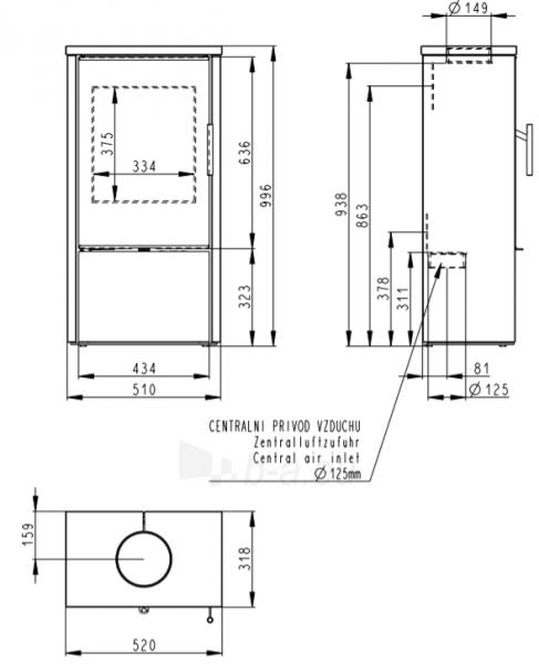 Krosnelė Romotop Laredo F 02 su muilo akmens apdaila Paveikslėlis 2 iš 2 310820254494