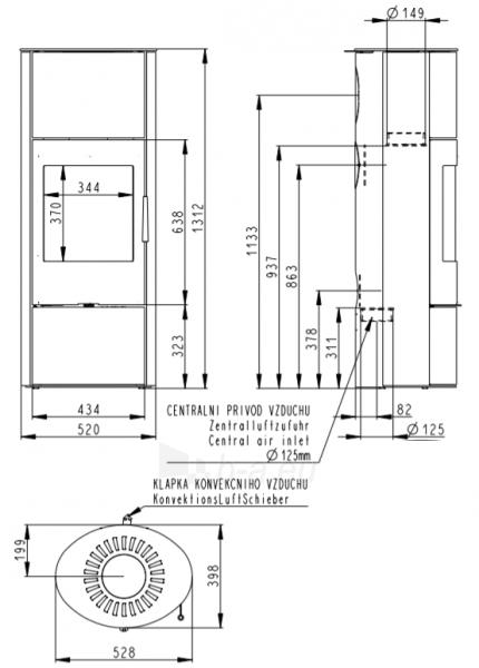 Oven židinys akumuliacinė Romotop Evora 03A Paveikslėlis 3 iš 3 310820236014