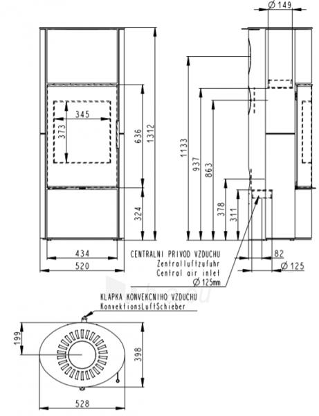 Krosnelė židinys akumuliacinė Romotop Laredo 02A su muilo akmens apdaila Paveikslėlis 2 iš 2 310820236006