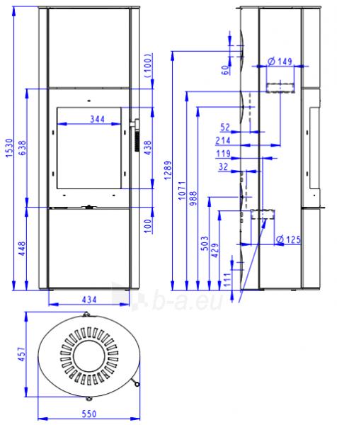 Oven židinys akumuliacinė Romotop Lugo N 03A Paveikslėlis 2 iš 4 310820236020