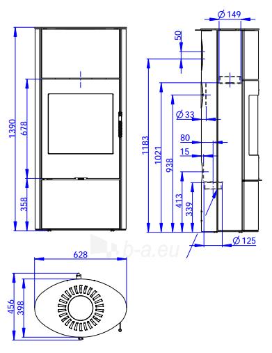 Krosnelė židinys akumuliacinė Romotop Ovalis 03A Paveikslėlis 2 iš 2 310820236022