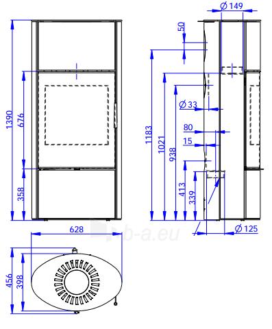 Oven židinys akumuliacinė Romotop Ovalis G 03A Paveikslėlis 2 iš 2 310820236023