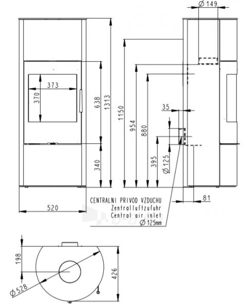 Krosnelė židinys akumuliacinė Romotop Palea 03 Paveikslėlis 2 iš 3 310820236024