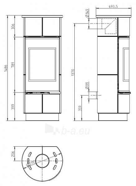 Oven židinys akumuliacinė Thorma Atika Ceramic Standard, balta keramikos apdaila Paveikslėlis 2 iš 2 310820236080