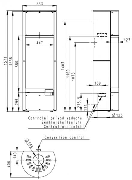 Oven židinys BELORADO su šonine akmens apdaila su akumuliacijos komplektu AKKUM 01X Paveikslėlis 3 iš 3 310820236012