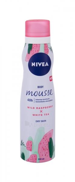Kūno losjonas Nivea Body Mousse Wild Raspberry x White Tea 200ml 48h Paveikslėlis 1 iš 1 310820222544