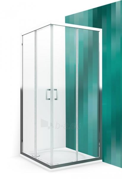 Kvadratinė shower LLS2 800 su 2 el. slankiojančiomis durimis, glass trans., prof. brillant Paveikslėlis 1 iš 3 310820165692