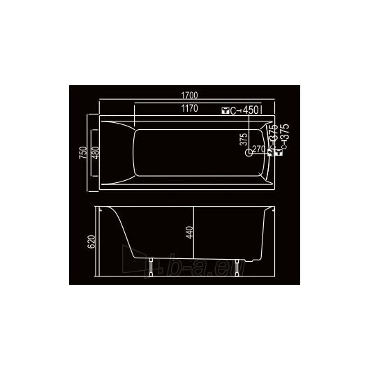 KYMA vonia Inga 170x75 Paveikslėlis 2 iš 3 270716000785