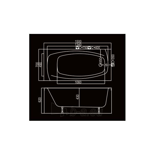 KYMA vonia Lina 150x70 Paveikslėlis 3 iš 3 310820126640