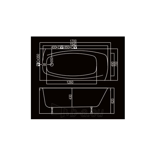 KYMA vonia Lina 170x70 Paveikslėlis 3 iš 3 310820126641