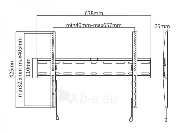 Laikiklis Tracer Wall 891 LCD/LED 37-70 Paveikslėlis 6 iš 6 250226200543