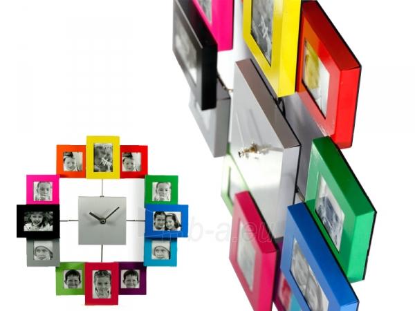 Laikrodis - nuotraukų rėmelis (Spalvingas) Paveikslėlis 2 iš 3 251003300392