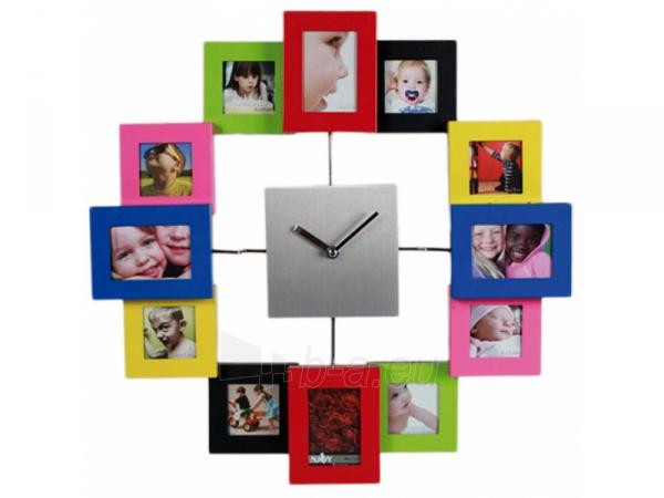 Laikrodis - nuotraukų rėmelis (Spalvingas) Paveikslėlis 3 iš 3 251003300392