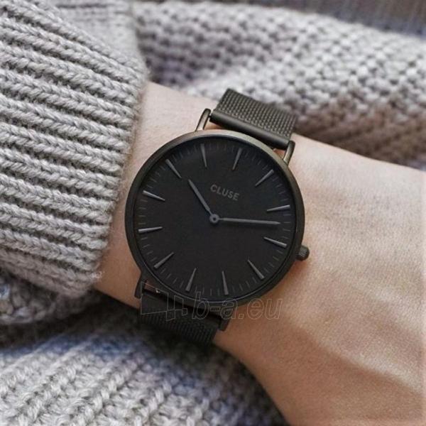 Laikrodis Cluse La Bohème Mesh Full Black Paveikslėlis 5 iš 9 310820112708