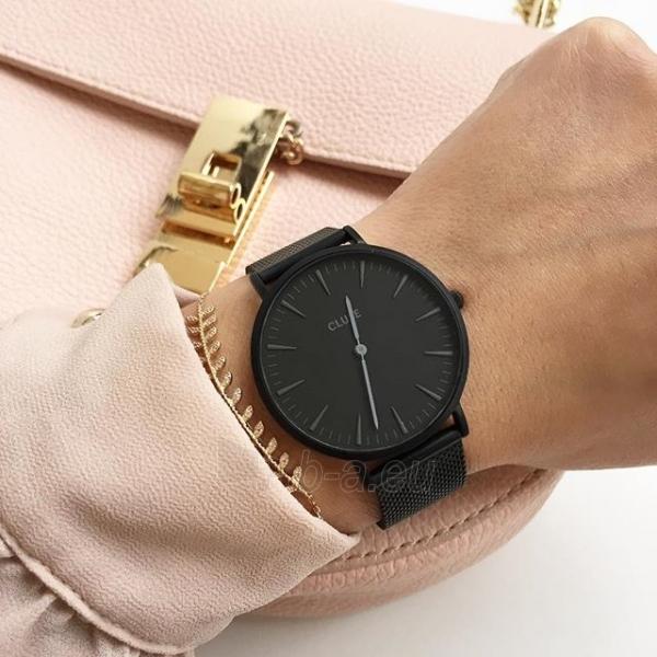 Laikrodis Cluse La Bohème Mesh Full Black Paveikslėlis 7 iš 9 310820112708