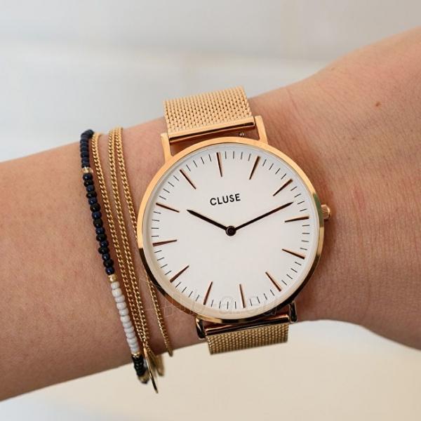 Laikrodis Cluse La Bohème Mesh Rose Gold/White Paveikslėlis 5 iš 9 310820112707