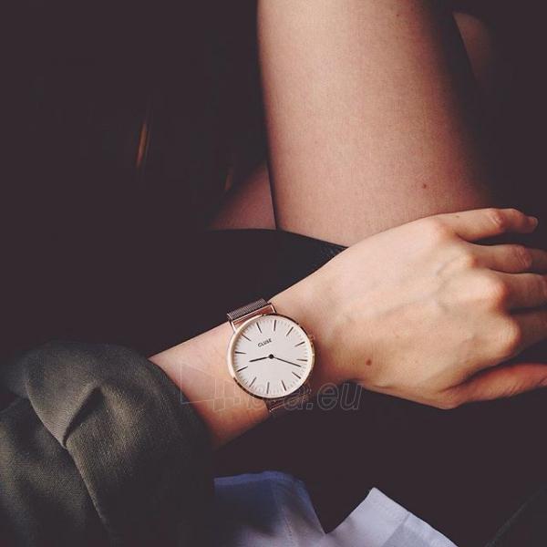 Laikrodis Cluse La Bohème Mesh Rose Gold/White Paveikslėlis 7 iš 9 310820112707