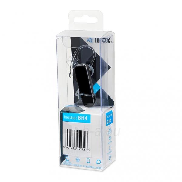 Laisvų rankų įranga I-BOX BH4 BLUETOOTH HEADSET Paveikslėlis 1 iš 3 310820067986