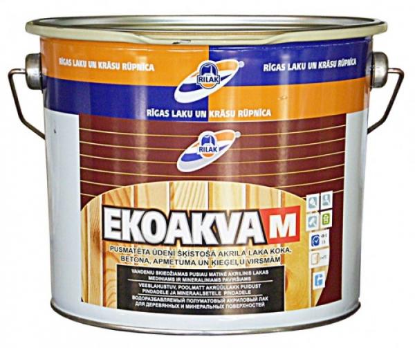 Lakas akrilinis EKOAKVA-M  2.7l Paveikslėlis 1 iš 1 236590000206