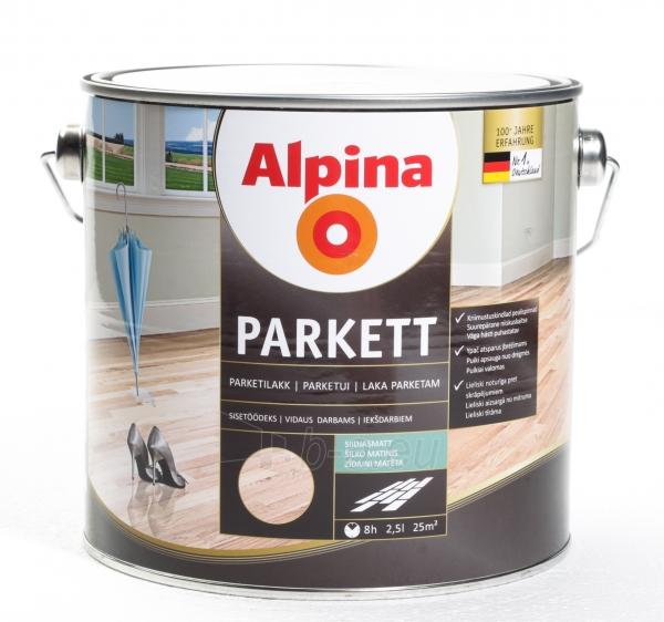 Lakas Alpina Parkettlack sm 2,5L Paveikslėlis 1 iš 1 236590000240