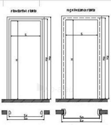 Laminuotos vidaus durys Invado TAURUS Paveikslėlis 3 iš 3 237930400109