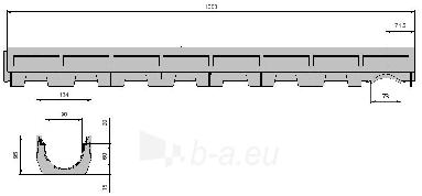 Latakas RECYFIX Top su PE-HD grotelėmis Paveikslėlis 2 iš 2 237510000152