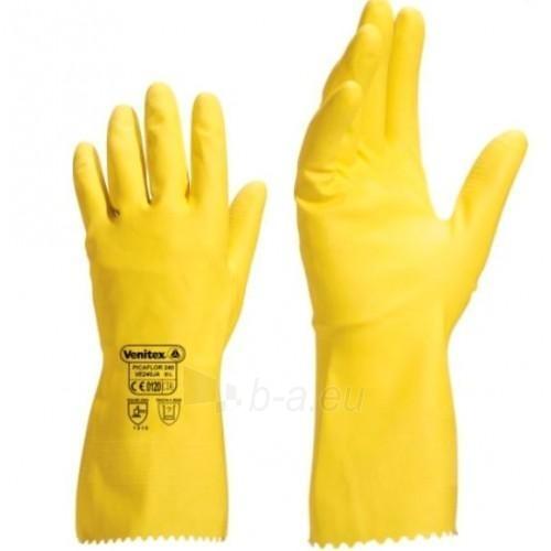 Lateksinės geltonos pirštinės PICAFLOR 240 Paveikslėlis 1 iš 1 224602200024