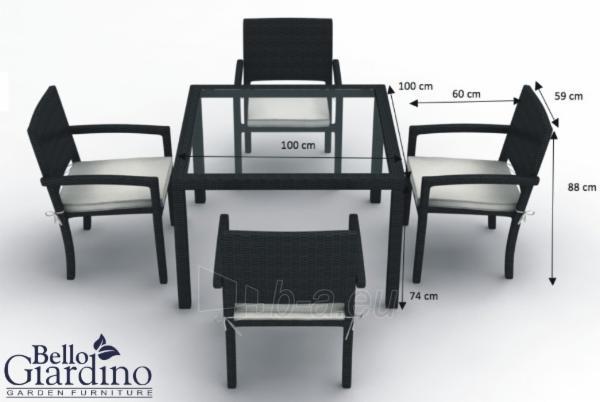 Lauko baldų komplektas ADORAZIONE Paveikslėlis 2 iš 8 250402300019