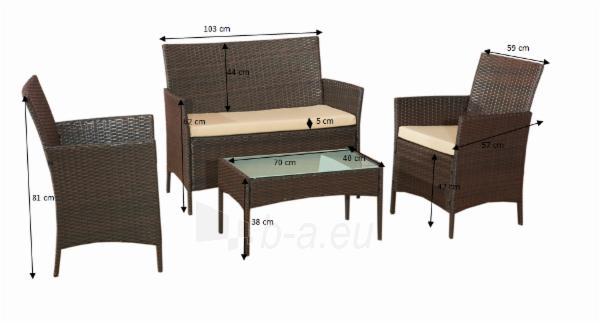 Lauko baldų komplektas COMODO tamsiai rudas Paveikslėlis 15 iš 15 310820072883