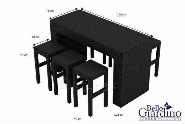 Lauko baldų komplektas GENIALE Paveikslėlis 3 iš 6 250402300030