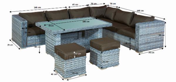 Lauko baldų komplektas Maestoso Paveikslėlis 12 iš 12 310820100262