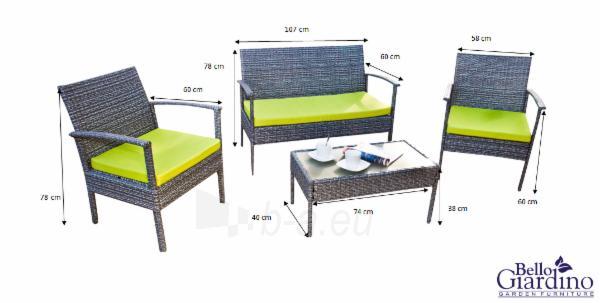 Lauko baldų komplektas PERFETTO Paveikslėlis 19 iš 24 250402300059