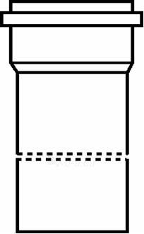 Lauko kanalizacijos vamzdis Wavin S klasė, d 110-3.4-6000 mm Paveikslėlis 1 iš 1 270518000276