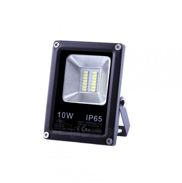 Lauko prožektorius ART External lamp LED 10W,SMD,IP65, AC80-265V,black, 4000K-W Paveikslėlis 1 iš 5 310820135082