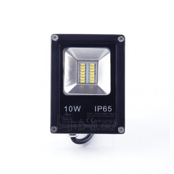 Lauko prožektorius ART External lamp LED 10W,SMD,IP65, AC80-265V,black, 4000K-W Paveikslėlis 2 iš 5 310820135082