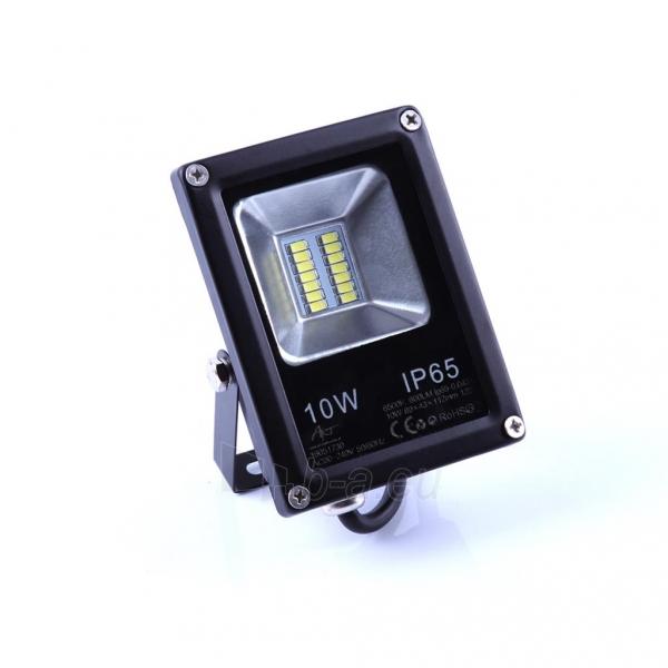 Lauko prožektorius ART External lamp LED 10W,SMD,IP65, AC80-265V,black, 4000K-W Paveikslėlis 3 iš 5 310820135082