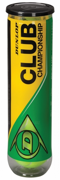 Lauko teniso kamuoliukai Dunlop Club Championship 4 vnt Paveikslėlis 1 iš 1 310820040194