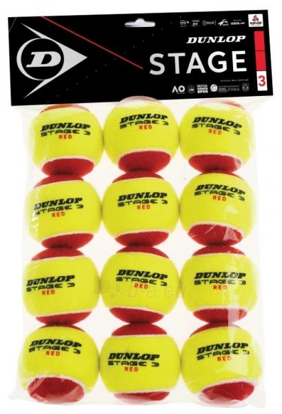 Lauko teniso kamuoliukai DUNLOP STAGE 3 12 vnt. Paveikslėlis 1 iš 1 310820217604