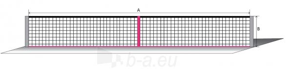 Lauko teniso tinklas ECONOM 12,80x1,08m PA 42x42x3 Paveikslėlis 1 iš 1 310820040118