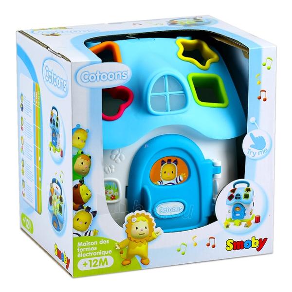 Lavinimo žaislas Cotoons Shape Sorter House electr. Paveikslėlis 2 iš 2 310820082621