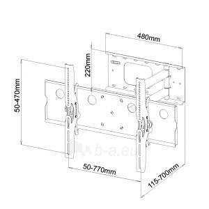 LCD/LED/PLAZMA televizoriaus laikiklis ART AR-20A|32-60|60kg|vert./horiz. reg. Paveikslėlis 2 iš 5 250226200557