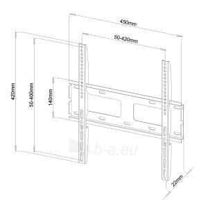 LCD/LED/PLAZMA televizoriaus laikiklis ART AR-33 | Juodas| 23-55 | 60kg | VESA Paveikslėlis 3 iš 4 250226200558