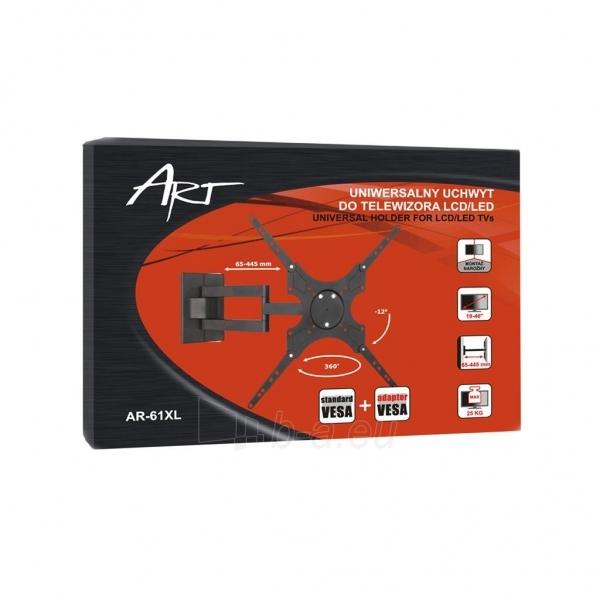 LCD/LED televizoriaus laikiklis ART AR-61 |19-37 | 25kg| vert./horiz. reg. Paveikslėlis 5 iš 5 250226200555