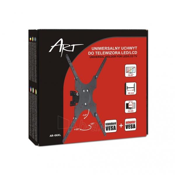 LCD televizoriaus laikiklis ART AR-06XL |17-37 |Juodas |35kg |VESA Paveikslėlis 4 iš 4 250226200547