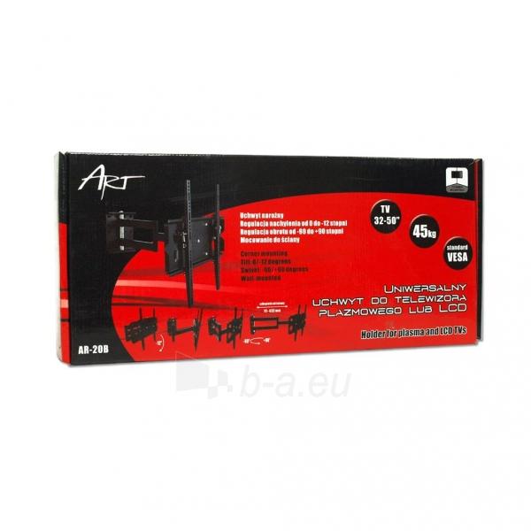 LCD televizoriaus laikiklis ART AR-20B | Juodas| 32-50 | 80kg Paveikslėlis 6 iš 6 250226200549
