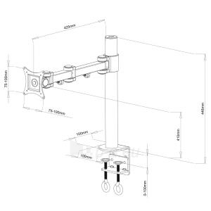 LCD Universalus monitoriaus laikiklis LCD black 13-27 10KG L-01 Paveikslėlis 2 iš 2 250226200581