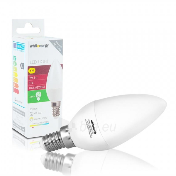 LED lemputė Whitenergy | E14 | 10 SMD 2835 | 5W | 230V| pienas | C30 Paveikslėlis 2 iš 6 310820049339