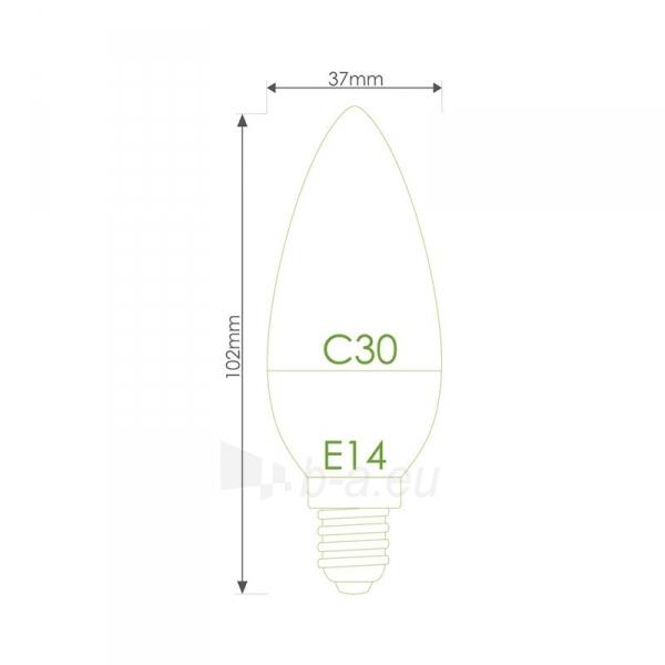 LED lemputė Whitenergy | E14 | 10 SMD 2835 | 5W | 230V| pienas | C30 Paveikslėlis 6 iš 6 310820049339