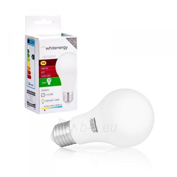 LED lemputė Whitenergy | E27 | 10 SMD2835 | 5W |230V šilta balta | A60 Paveikslėlis 6 iš 6 310820103039
